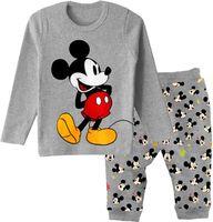 Retail 100% 2014 spring cotton long sleeve autumn gray mickey pijamas boy pyjamas kids pajama sets baby clothing