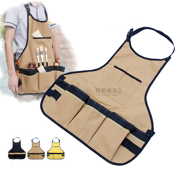 Painting Apron 3 Colors Sleeveless Waterproof Canvas Art Drawing Aprons Clothes for Woman and Man(China (Mainland))