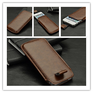 Luxury pu Leather PU Pull Tap Pouch Case Cover For Iphone 5 5G 5s bag i phone cases PY