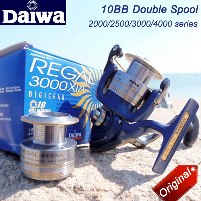 Japanese Original DAIWA Limited New Brand Front Drag Spinning Wheel,Double Spool Trolling Reel Fishing Reel Quality(few stock)(China (Mainland))
