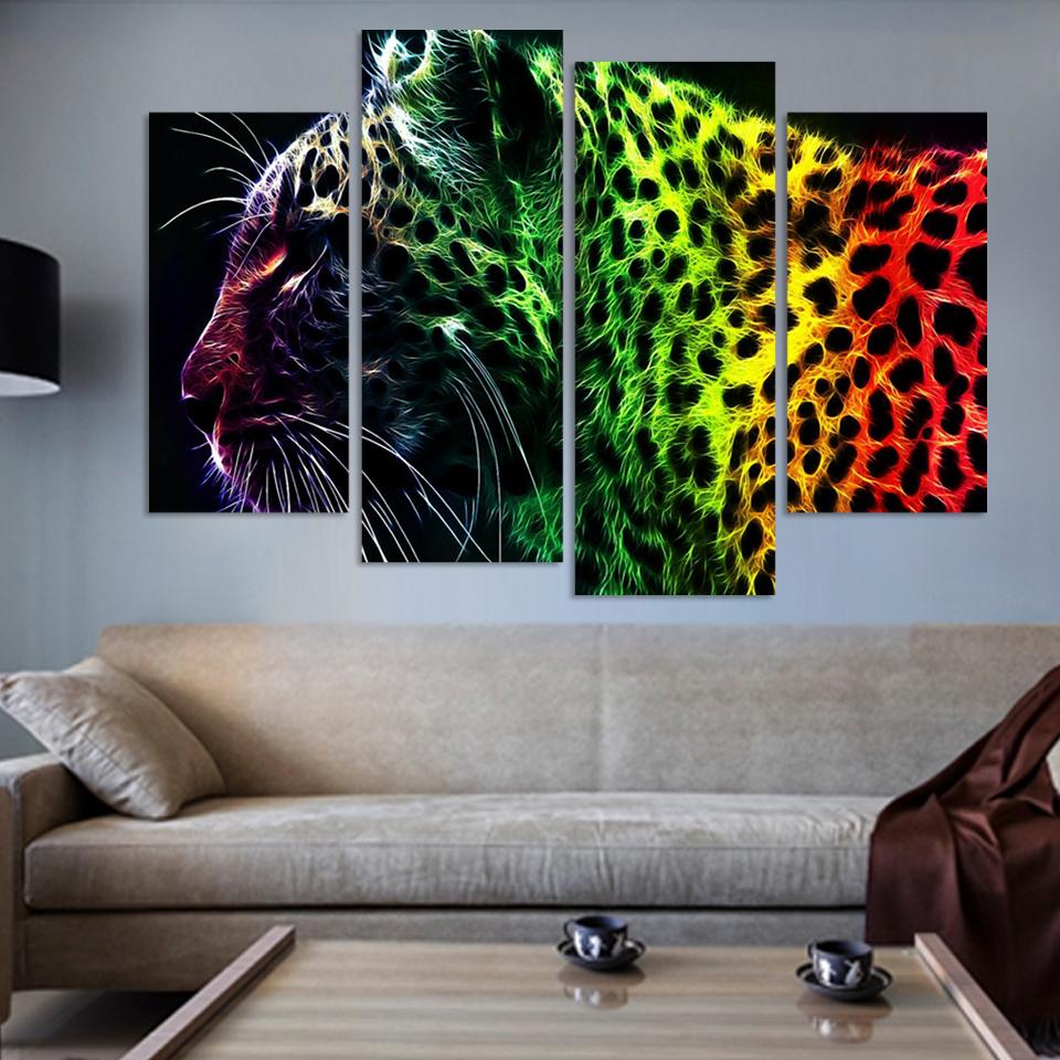 Leopard pintura compra lotes baratos de leopard pintura for Decoracion hogar leopardo