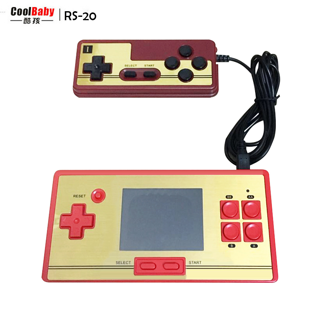 COOLBABY RS-20 2.6inch color lcd screen video games game 8bit Handheld game console with 600 games 2nd Controller hipFree Sping(China (Mainland))