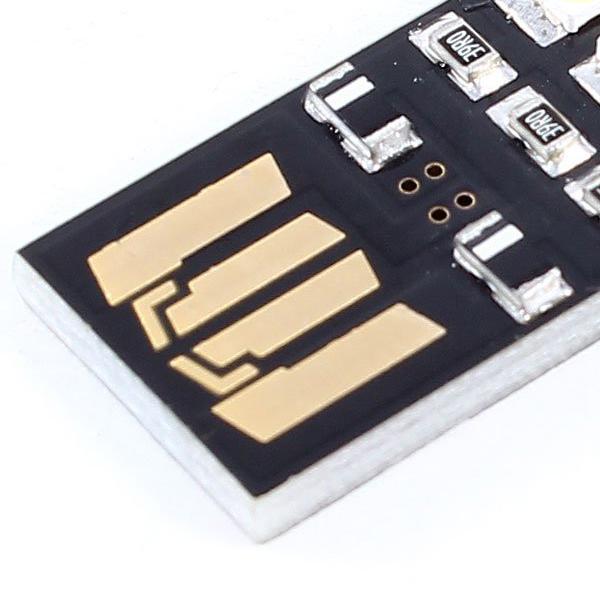 Promotion! Portable Mini Pocket Card Lamp Warm White 3 LED Keychain USB Light(China (Mainland))