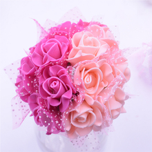 12PCS / lot 3cm artificial PE Pentagon artificial flowers lace rose wedding party car home furnishings handmade flowers(China (Mainland))