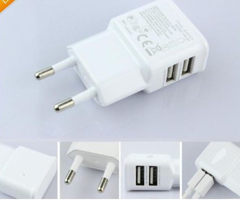 2 Dual USB Ports Wall Charger Adapter EU/US Plug for samsung galaxy s4 S3 S4MINI note2 note3 s5 HTC One Nexus 4 Free shipping(China (Mainland))