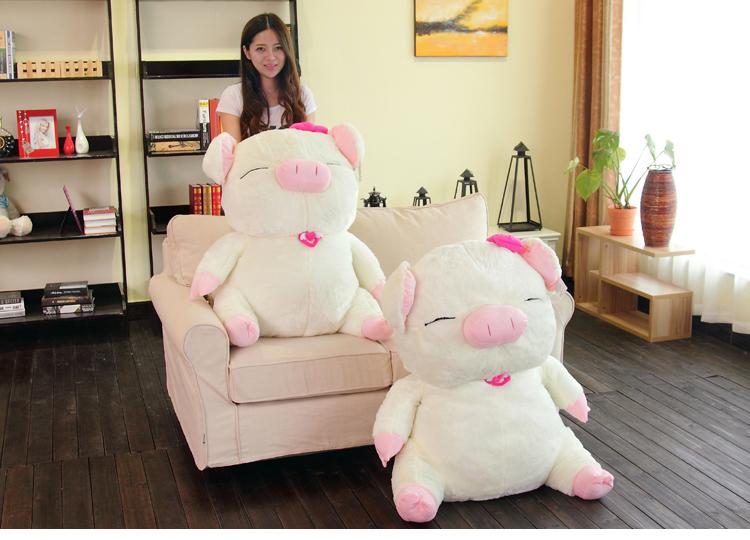 New Cute Large Pig Stuffed Plush Toy Birthday Gift Doll 40cm one piece(China (Mainland))