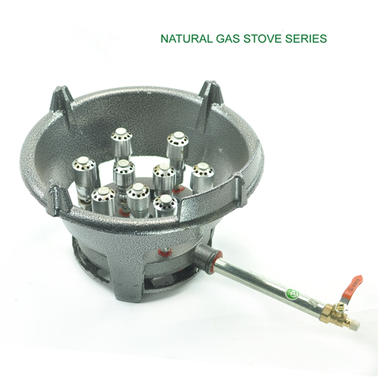 18KW super quality natural gas only bigh fire kitchen cooking burner stove cast iron hotel restaurant LNG cooking cooktop(China (Mainland))