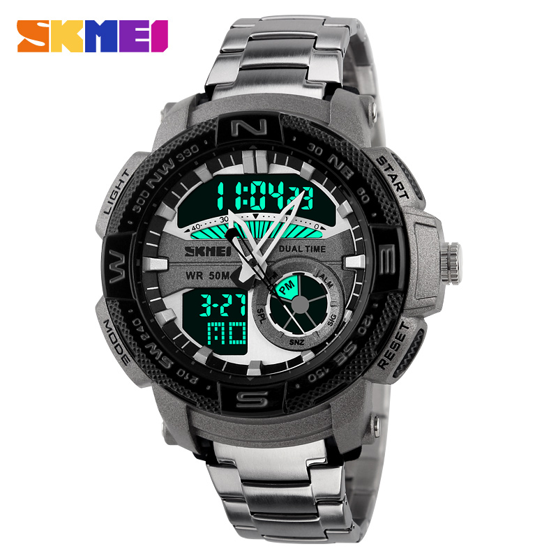 2016 Skmei Luxury Brand Mens Sport Watch Stainless Steel Wristwatches Army Military Watches Montre Homme Reloj Relogio<br><br>Aliexpress