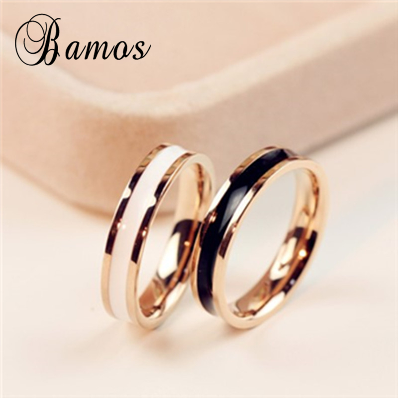 90% OFF ! Female Girls Rose Gold Fille Ring Fashion 316L Stainless Steel Ring Promise Engagement Rings For Women Christmas Gift(China (Mainland))