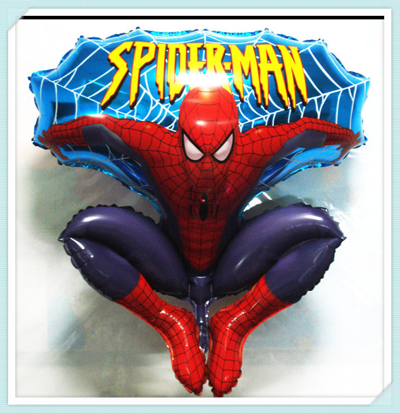 1pc Free Shipping Wholesale Spiderman Foil Balloons Helium Balloon For Kids Toys Hydrogen Jump Type 36-inch Balloon(China (Mainland))
