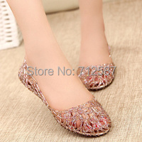 Supernova Sales New 2013 Fashion summer breathable women shoes jelly sandals nest mesh flats for women# 5699