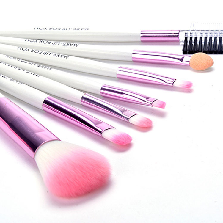 Direct manufacturers 7 wallet type professional makeup brush set cosmetic beauty tools(China (Mainland))