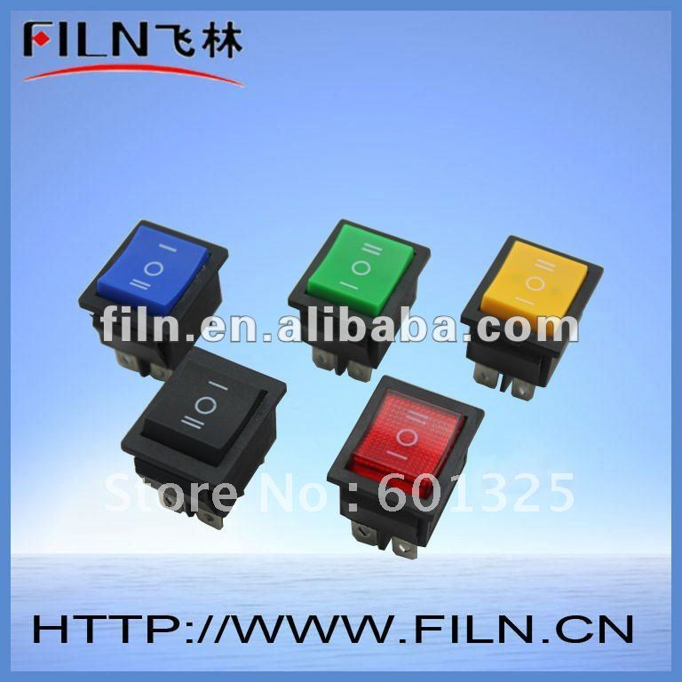 non-illuminated on off on illuminated rocker switch KCD4-203<br><br>Aliexpress