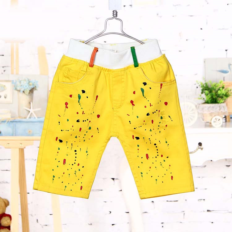 2015 summer new style baby boys fashion middle pants little boys casual colorful pants A2082(China (Mainland))