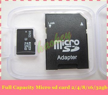 (Full capacity !) 5pcs/lot memory card micro sd 2/4/8/16/32GB from manufacturer- free shipping