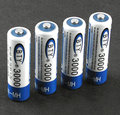 4Pcs AA 3000MAH Free shipping High quality original rechargeable batteries battery 1 2V 2A high capacity