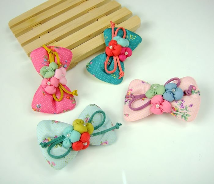 Freeshipping! NEW baby girls cotton flower  hair clips / hairpins / bow clips / Hair Accessories / Korean style <br><br>Aliexpress
