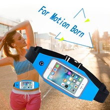 Women Fashion Multifunction Phone Touch Screen Waterproof Sports Waist Pack Running Close Pockets Headphone Jack Fanny pack