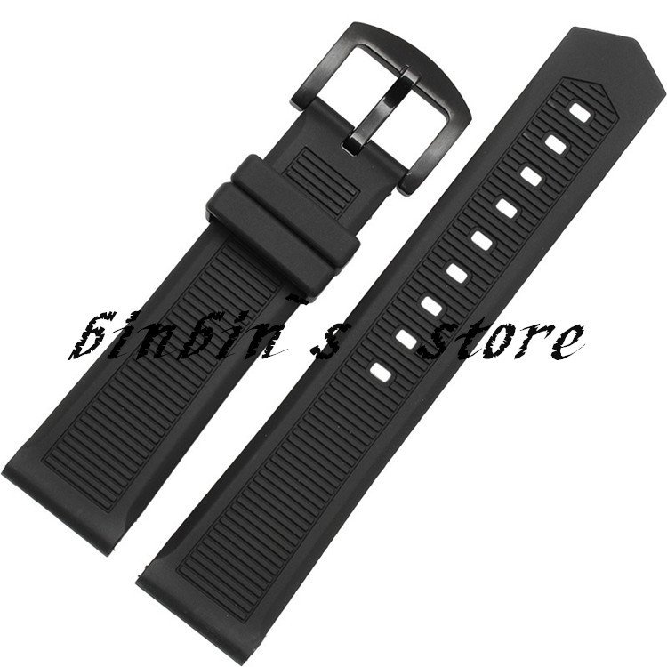 2015 NEW TOP GRADE,22mm(watch lug) Rubber Watch Bands,Silver/Black Solid Deploy Clasp,Waterproof Silicone Straps Free Shipping<br><br>Aliexpress