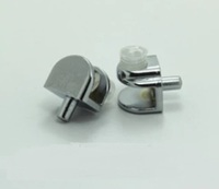 200PCS/LOT  Glass Shelf Support Clamps Studs Pin 5mm Nickel Plate clamp clips clip