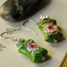 Mix minimum $5 National vintage jewelry trend plaid pavans night market earrings cloisonne(China (Mainland))