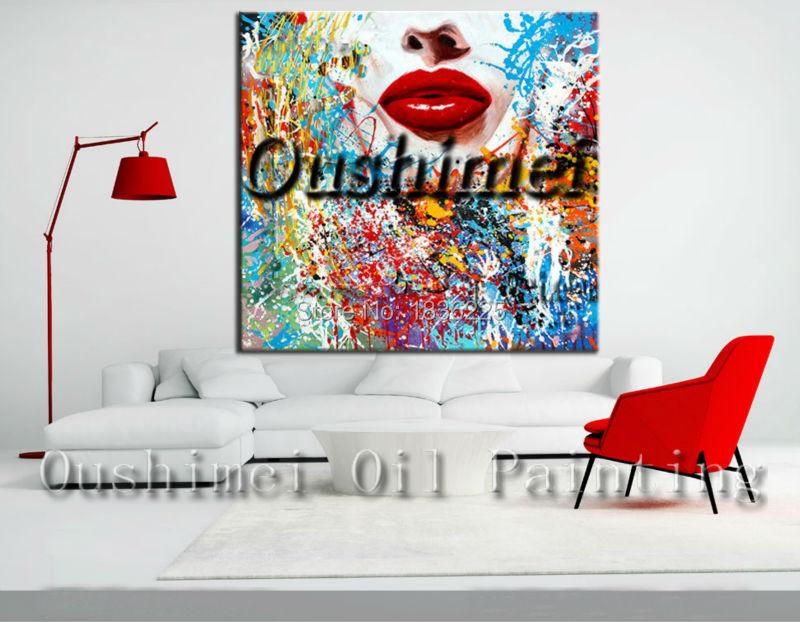 Online kopen wholesale lippen schilderijen uit china lippen schilderijen groothandel for Schilderen moderne volwassen kamer