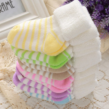 New fashion baby boys girls winter socks, striped thicked warm baby socks, Striped Winter Baby Socks fit for 0-4T(China (Mainland))