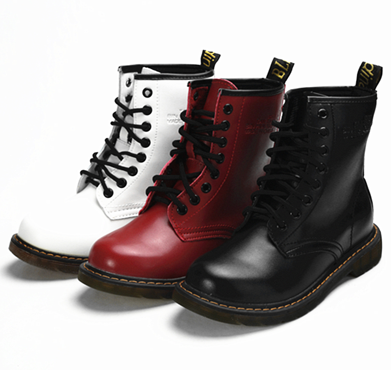 womens autumn leather ankle motorcycle boots new 2015. Black Bedroom Furniture Sets. Home Design Ideas