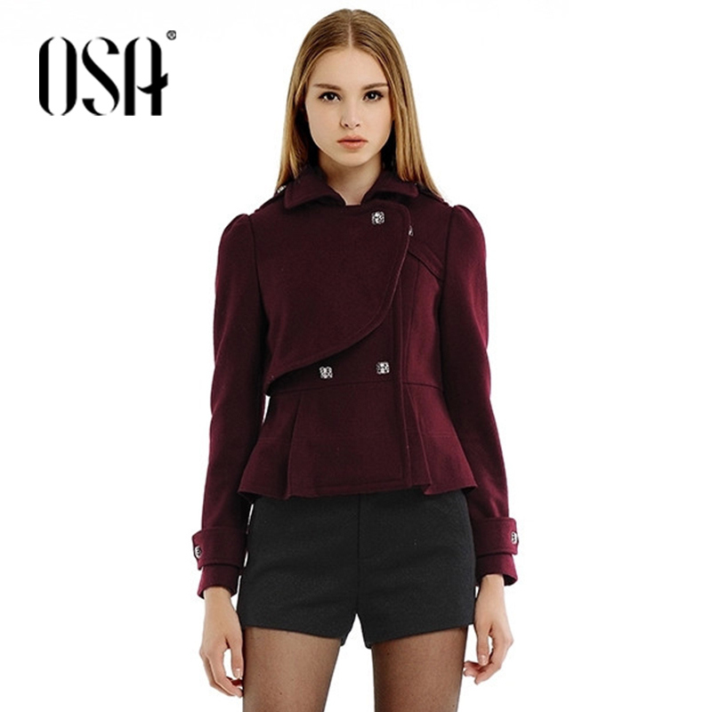 OSA 2015 Women Fashion Tunic Double Breasted Short Coat Lapel Short Coat For Women SW403004Одежда и ак�е��уары<br><br><br>Aliexpress