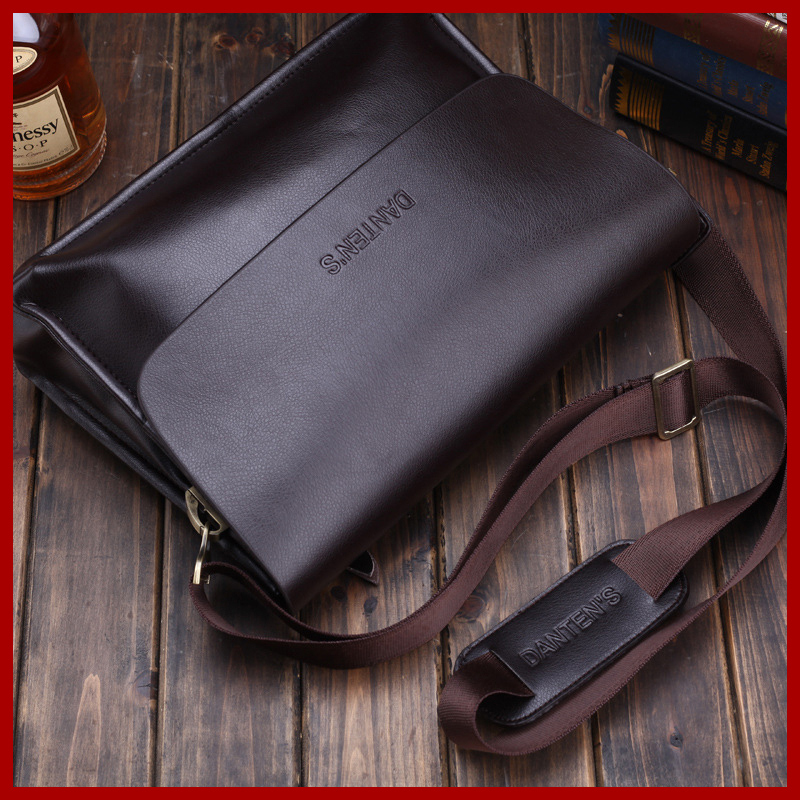 Danten's business shoulder messenger bags for men genuine leather bag tote handbag bag black bag fashion men's briefcase 1606(China (Mainland))