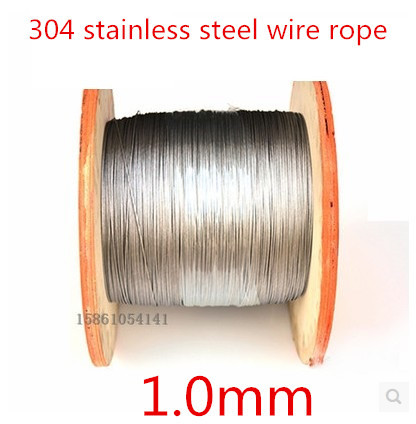 High Quality 100 meters 1.0mm 7*7mm stainless steel wire rope,(China (Mainland))