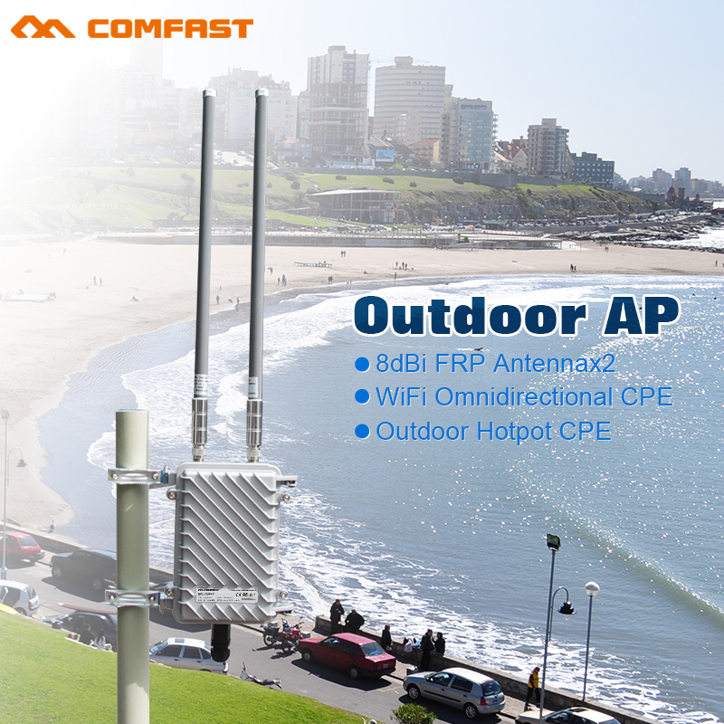 COMFAST Long Distance Outdoor Wireless WiFi Antenna base station Outdoor Wireless wifi bridge CPE APAR9341 WI FI coverage Point(China (Mainland))