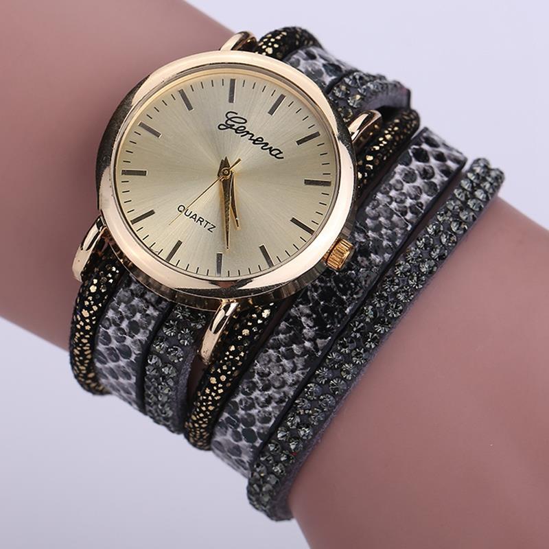 Гаджет  Hot Sale GENEVA Brand Fashion Casual PU Leather Wrist Watches Women Fashion Luxury Watch Women Dress Watches Gift Watch !2XR1571 None Часы
