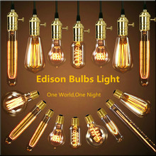 Christmas Vintage edison bulb Clear Glass Light Bulbs 3W/40W/60W E27 Bulbs incandescent  Indoor/Outdoor Decoration Retro lights(China (Mainland))