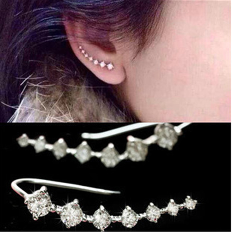 Seven stars Earrings Rhinestone Trendy Jewelry Beautifully Ear Accessories Earring Zircon Sparkling Crystal Trinkets .(China (Mainland))