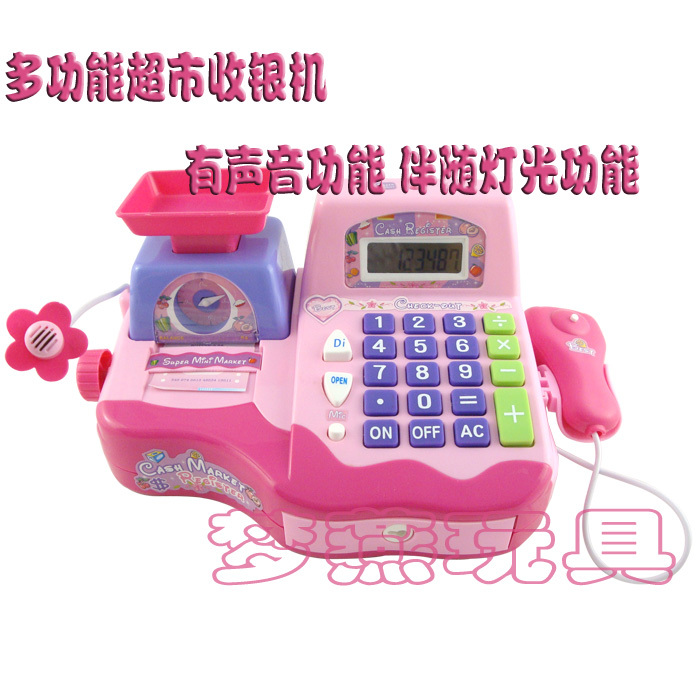 Girl Boy Toys Supermarket Simulation Cash register Artificial 2-7 years Pretend Play toy(China (Mainland))