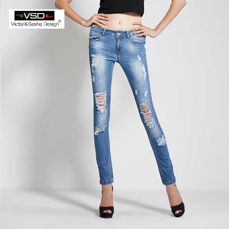 джинсы женские с дырками