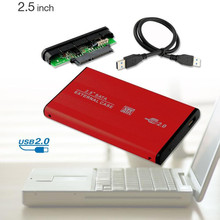 Aluminum SATA Hard Drive HDD Enclosure Box Case External Storage caja boitier disco duro sata disque dur 1 to 2 5 1tb 2.5″ Inch
