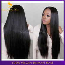 7A grade unprocessed virgin brazilian u part wig human hair silky straight u part wigs for black women middle part 130 density(China (Mainland))