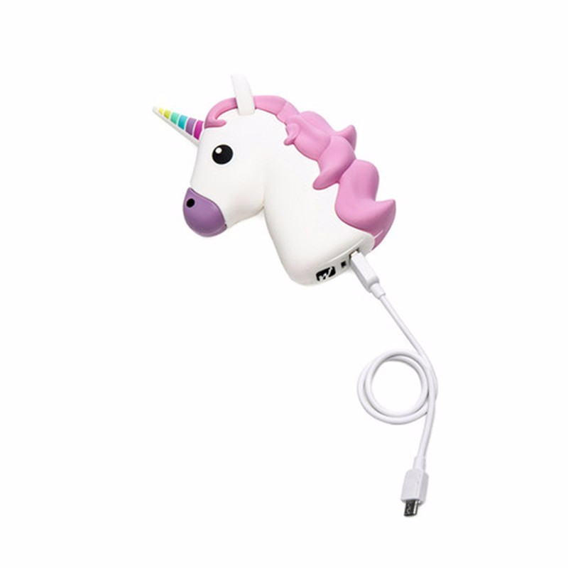 universal 2600 mAh Cartoon Unicorn Power Bank Unicorn Baterry Charger External Backup Battery for sansumg iphone Xiaomi phones