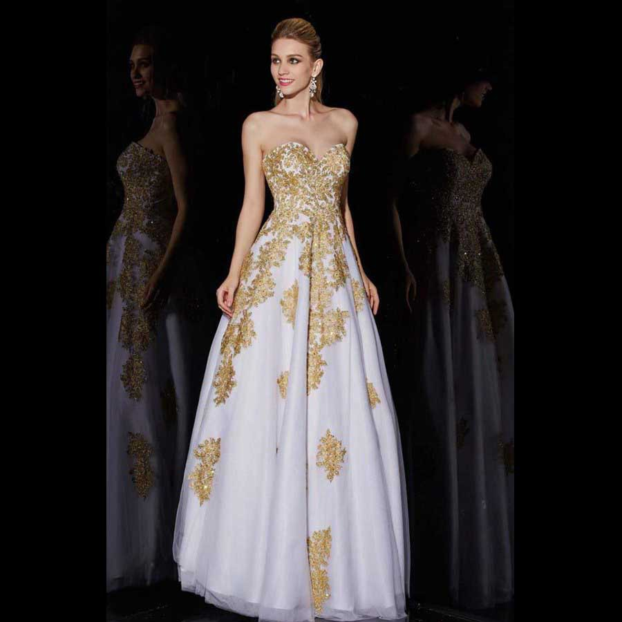 Online get cheap white with gold maternity dress aliexpress latest style special occasion party gowns for maternity applique beaded puffy sexy long white and gold ombrellifo Gallery