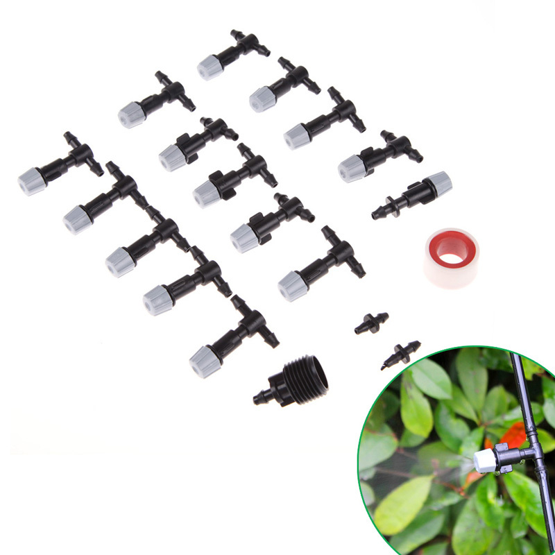 1 set 10M Micro Sprayers Cooling Mist Atomizer for Balcony Garden 15 Spray Nozzles Free Shipping(China (Mainland))