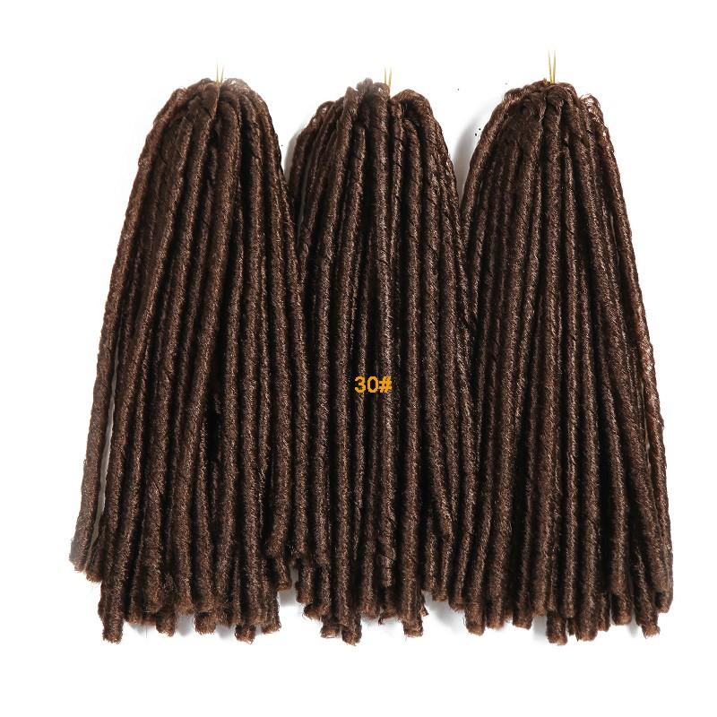 Crochet Loose Hair Dreadlocks : ... Synthetic Senegal Faux Locs Braids 14 Afro Havana Dreadlock Bra...
