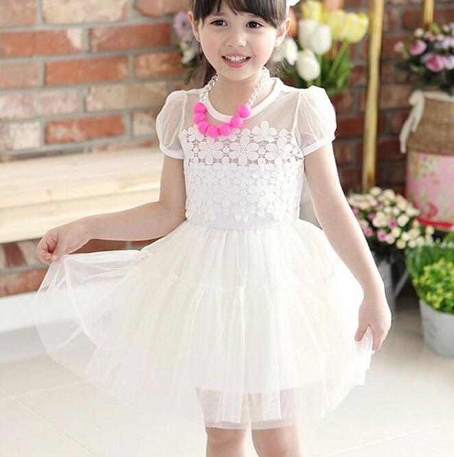 Whoelsale 5PCS/LOT Girl Dress Summer With Necklace Lace Cute Girls Clothes For 1-6 Ages Kids Beading Princess Dresses t-d069<br><br>Aliexpress