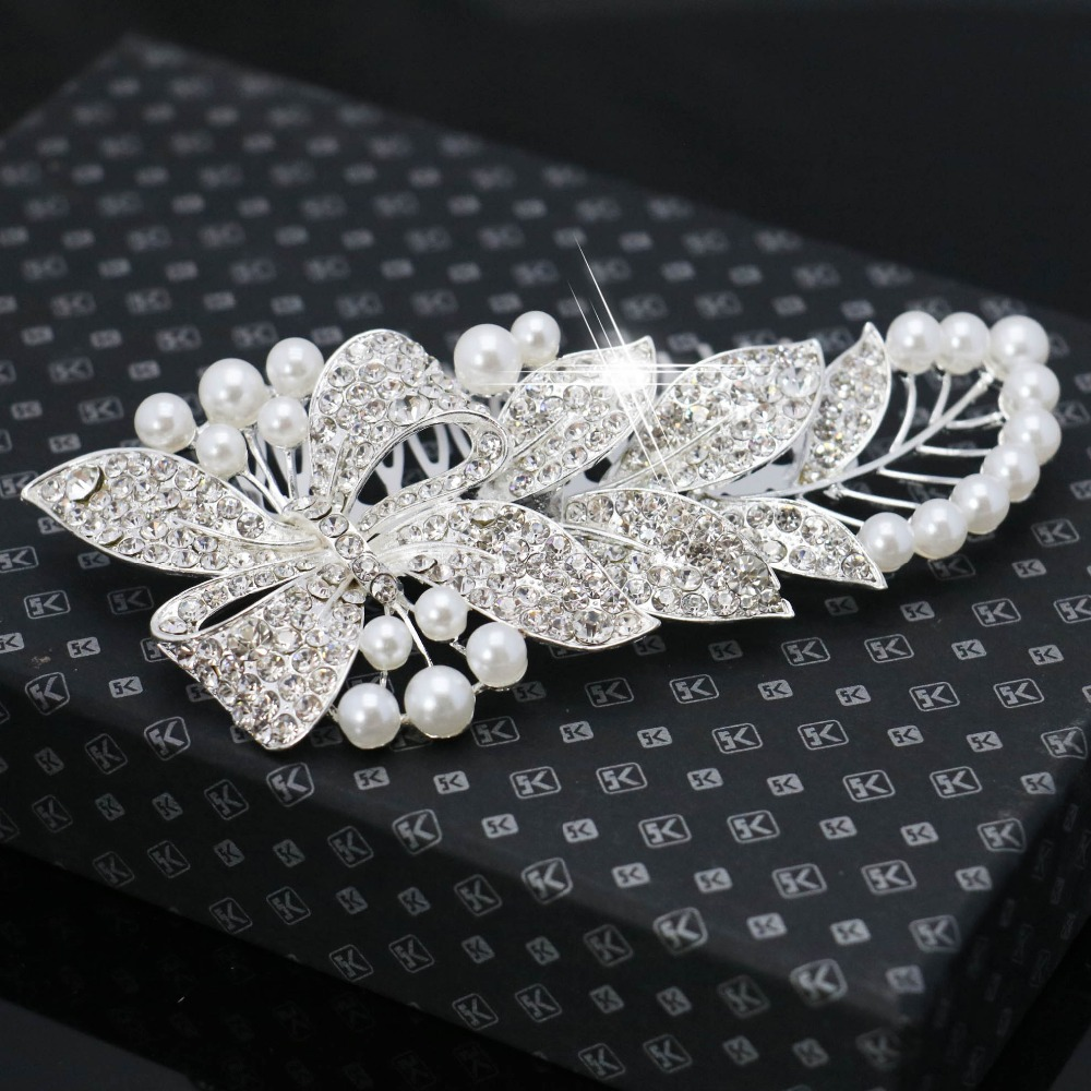 High-grade Bridal Crystal Hair Combs Classic Rhinestone Wedding Hair Accessories Trendy Hairwear Women Hair Clip Fashion Tiara(China (Mainland))