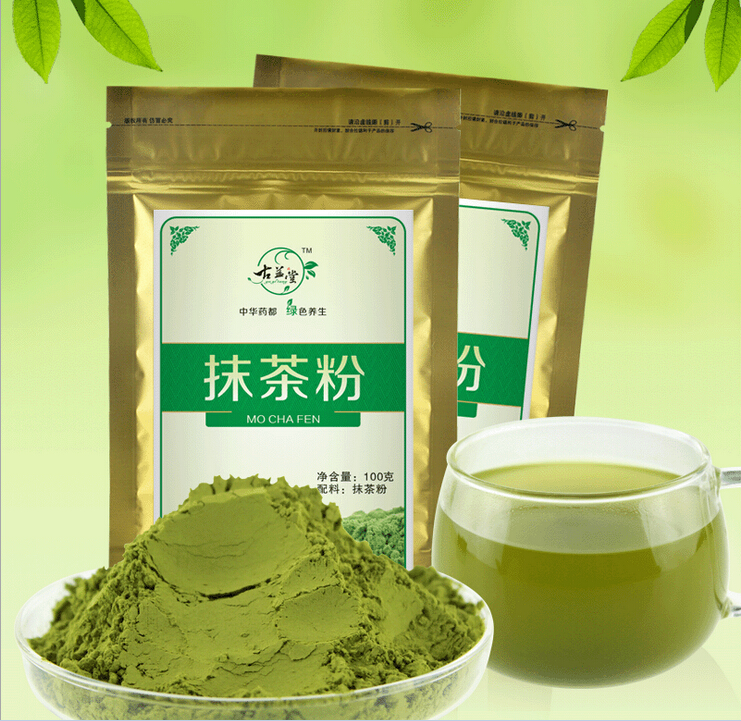 100g Authentic matcha powder Top class green tea powder pure natural organic To help beautiful slimming and young(China (Mainland))