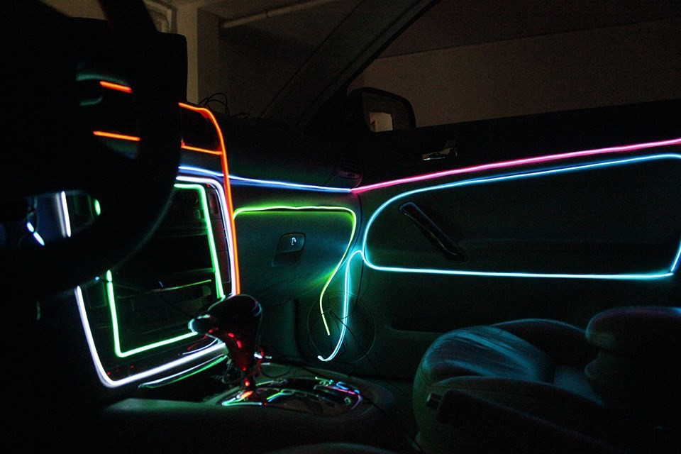 ar lights interior lights colorful flexible el wire internal cold neon light for car party. Black Bedroom Furniture Sets. Home Design Ideas