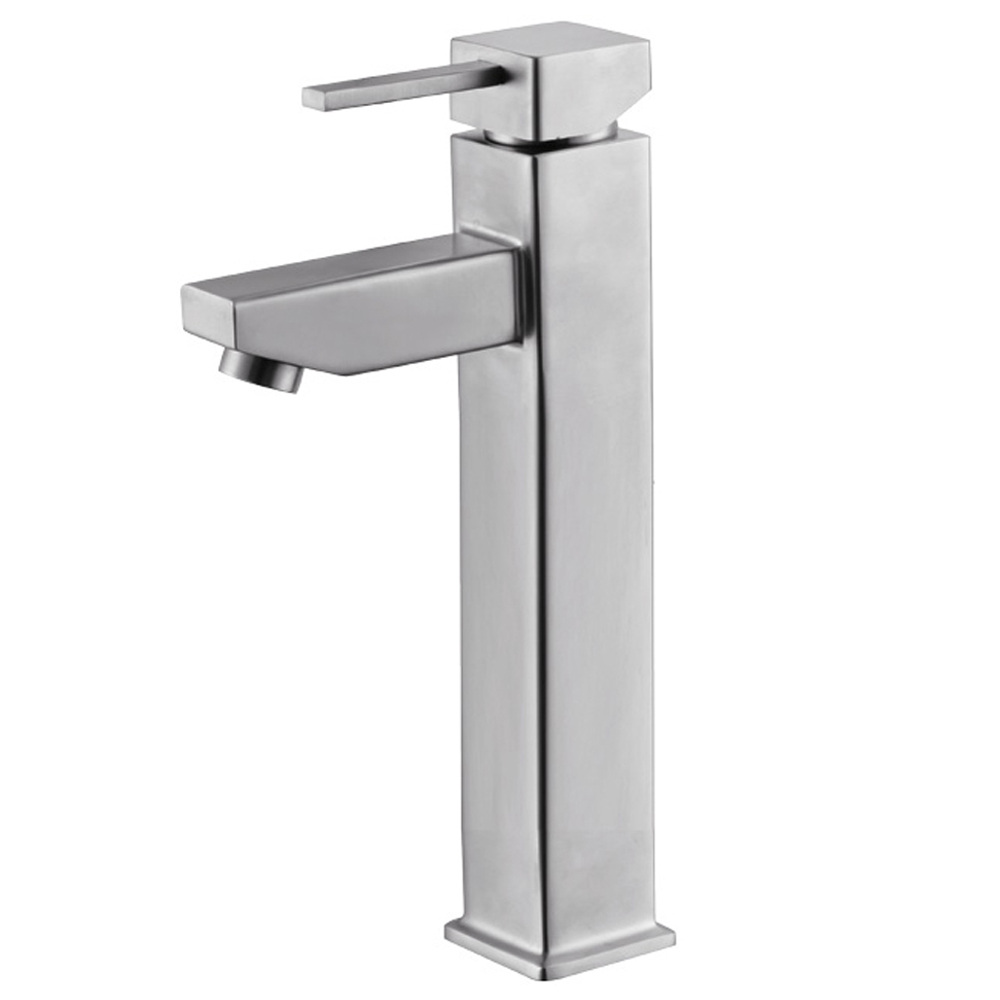 SUS304 stainless steel Counter Basin Mixer faucets single Hole handle Bathroom water tap washbasin faucet Lead-free(China (Mainland))