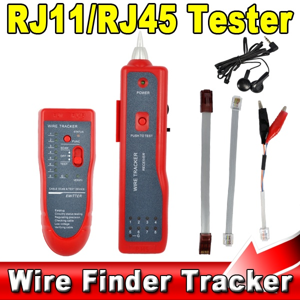 Telephone Network Phone RJ45 RJ11 Cable Wire Tracker Phone Generator Tester Diagnose Tone Networking Tools New(China (Mainland))