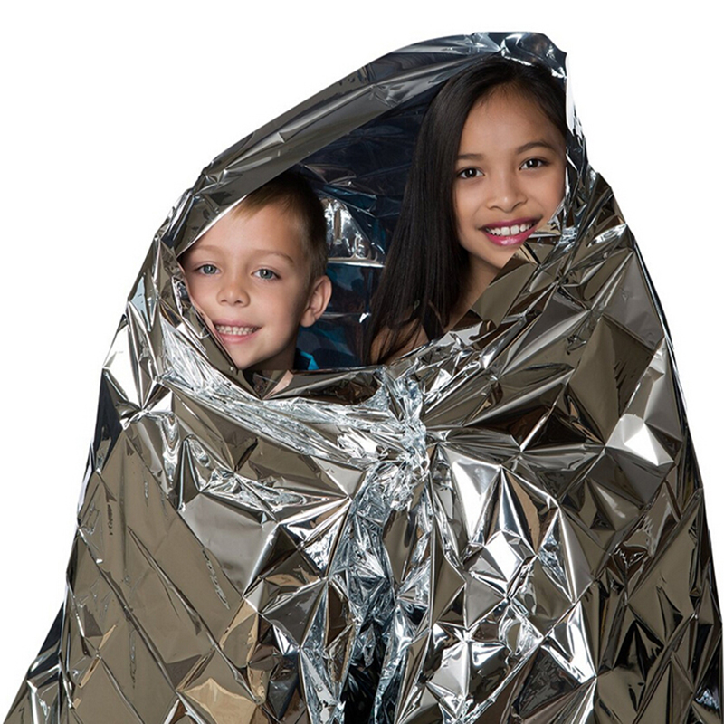 210*140CM Water Proof Emergency Survival Rescue Blanket Foil Thermal Space First Aid Sliver Rescue Curtain Outdoor(China (Mainland))